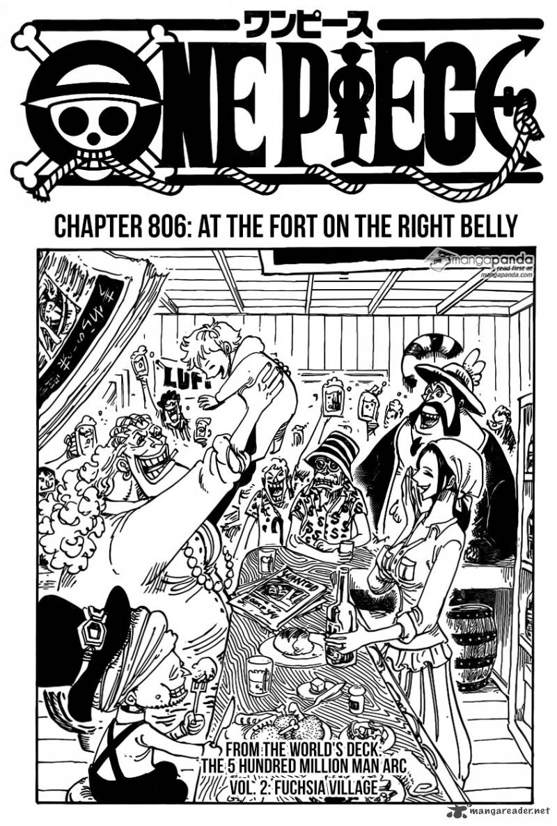 One Piece Chapter 806 Page 1