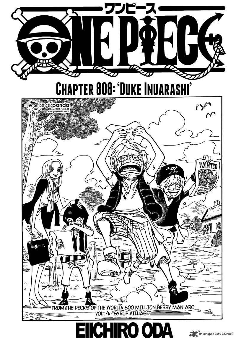 One Piece Chapter 808 Page 1