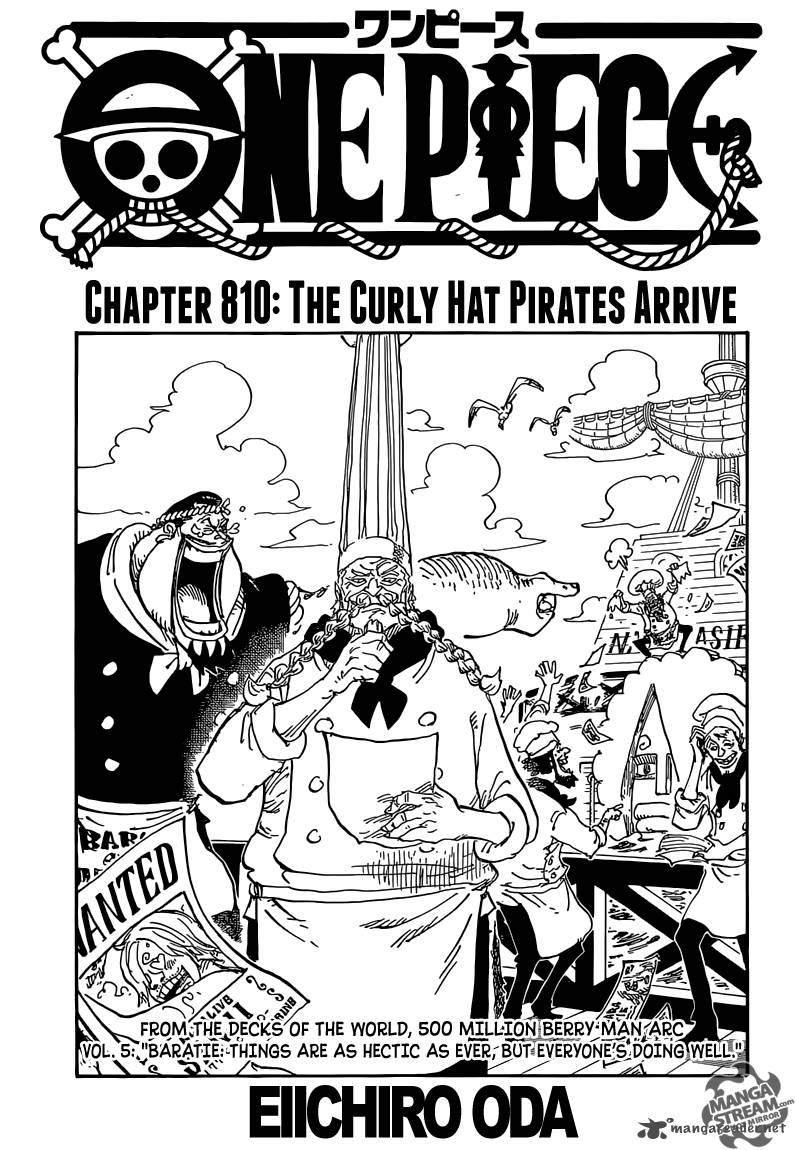 One Piece Chapter 810 Page 1