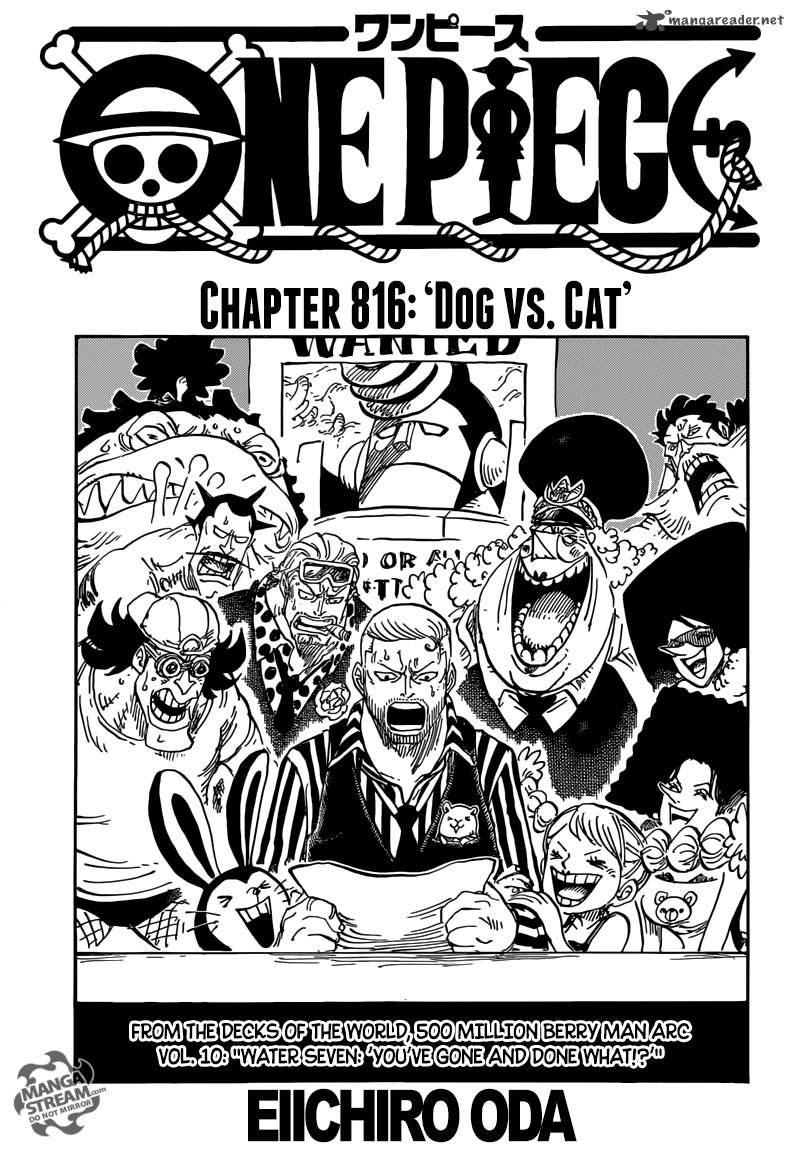 One Piece Chapter 816 Page 1