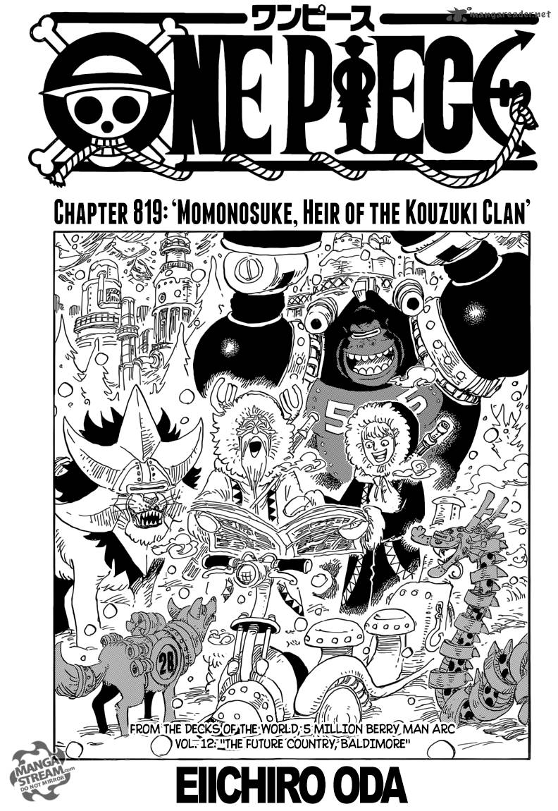 One Piece Chapter 819 Page 1
