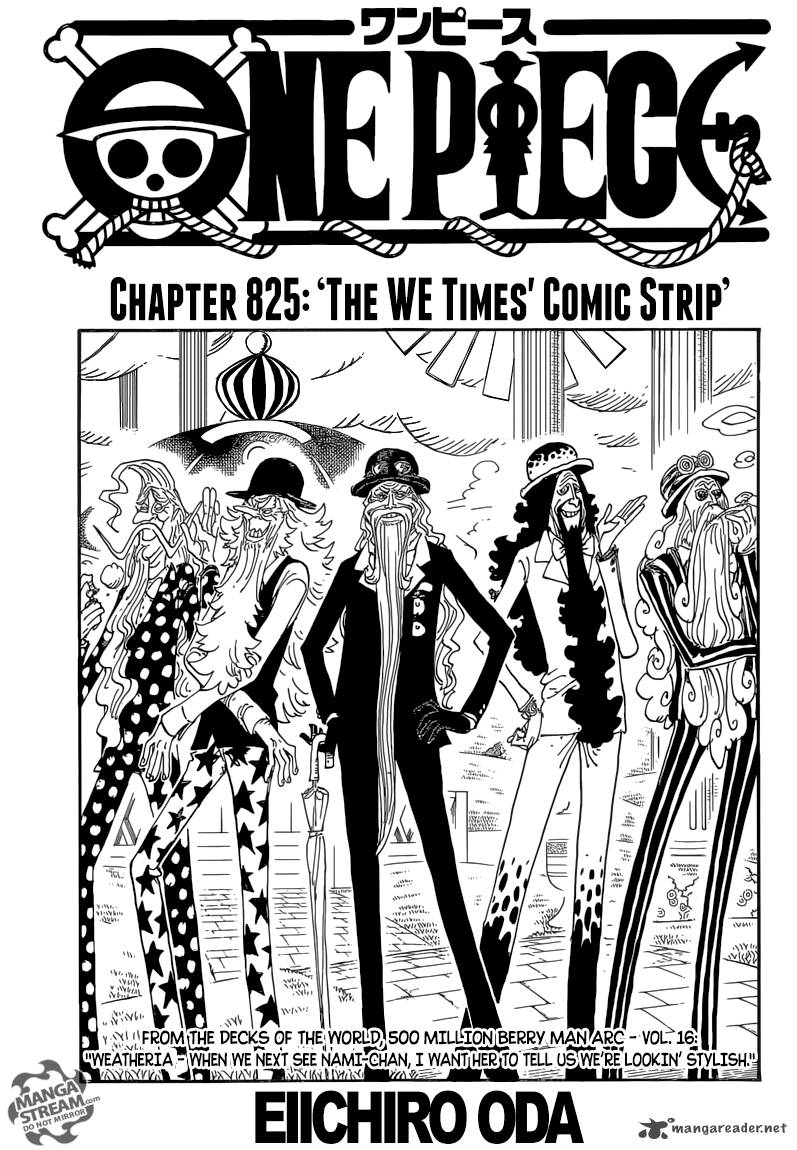 One Piece Chapter 825 Page 1