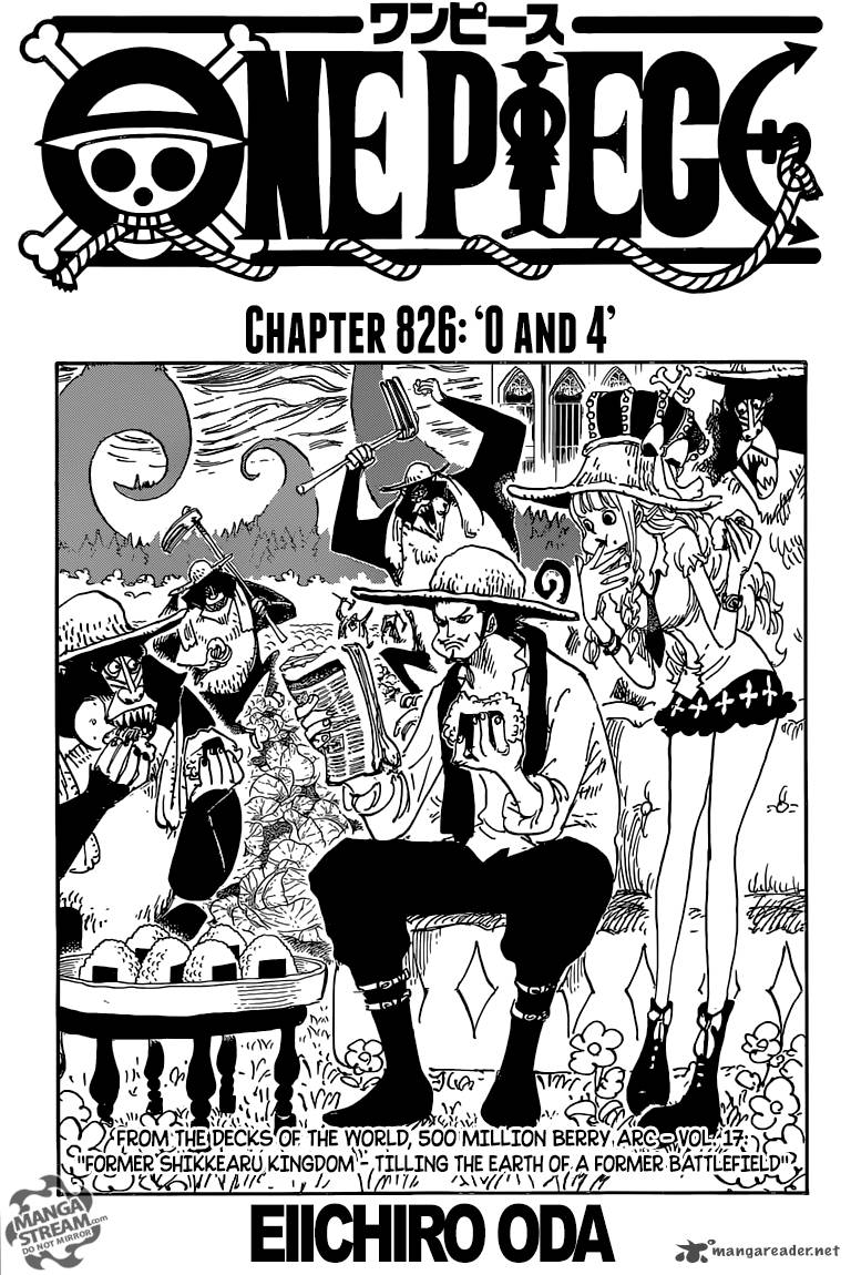 One Piece Chapter 826 Page 1