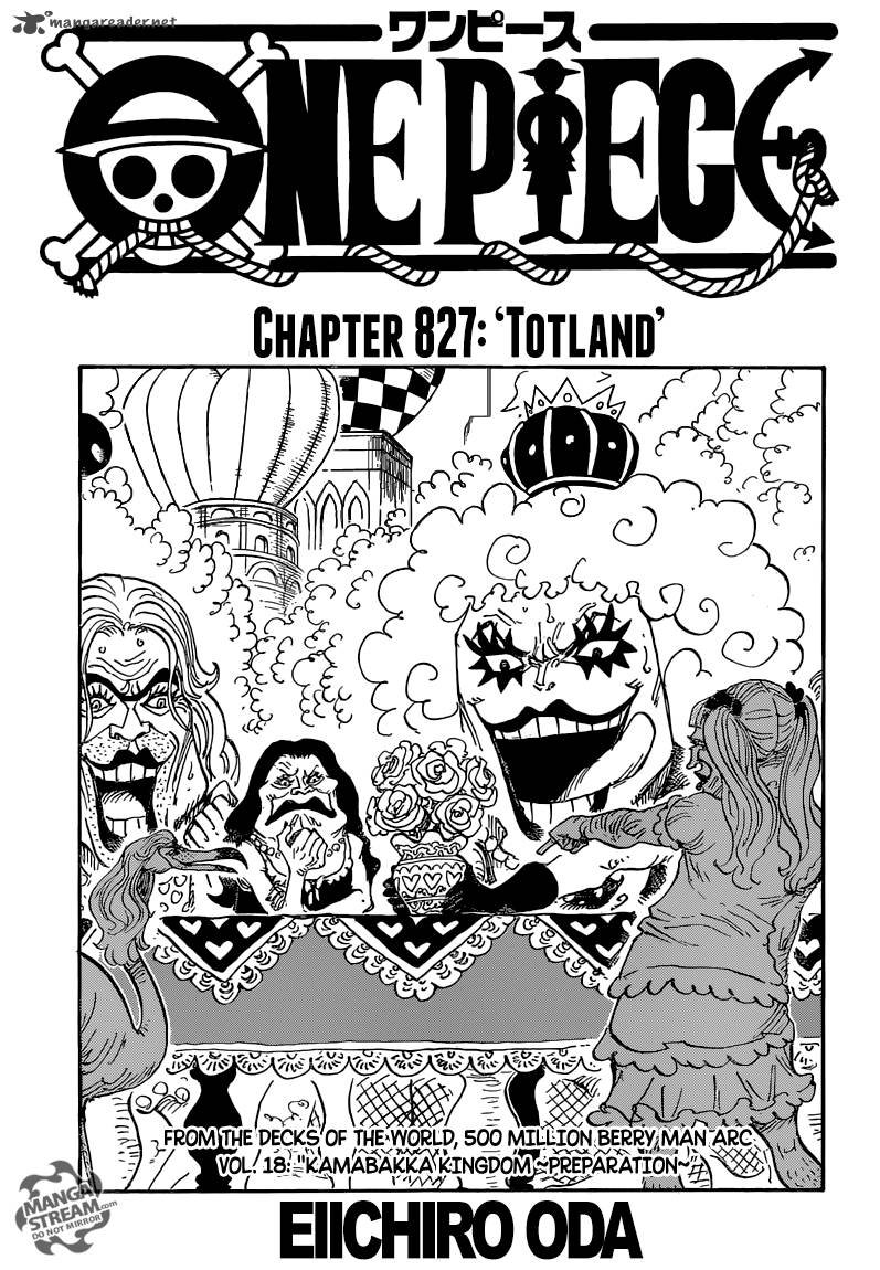 One Piece Chapter 827 Page 1