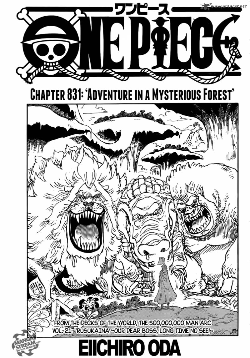 One Piece Chapter 831 Page 1