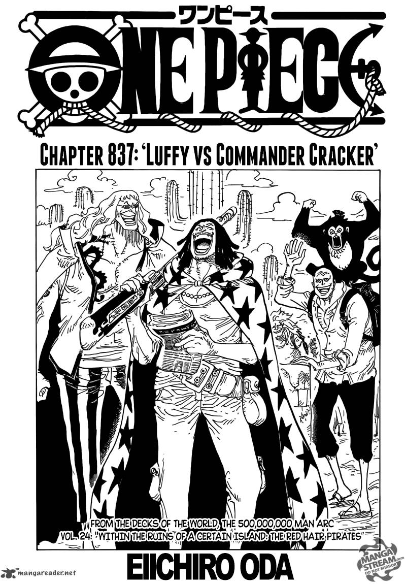 One Piece Chapter 837 Page 1