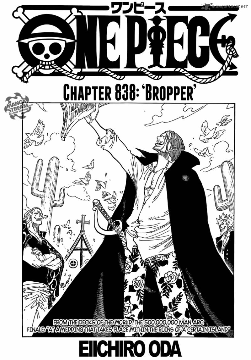 One Piece Chapter 838 Page 1