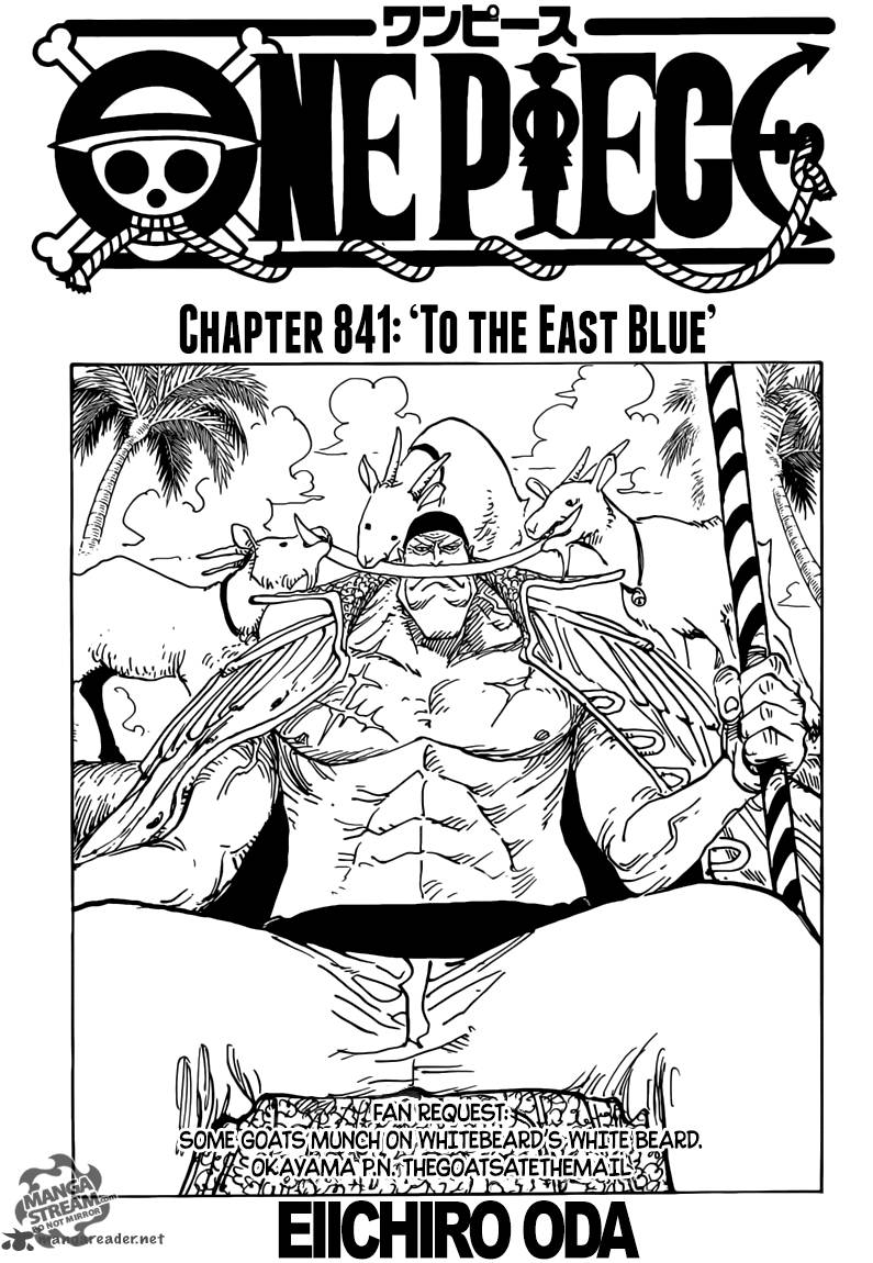 One Piece Chapter 841 Page 1