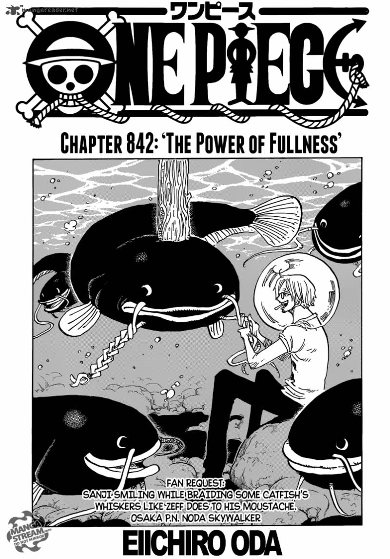 One Piece Chapter 842 Page 1