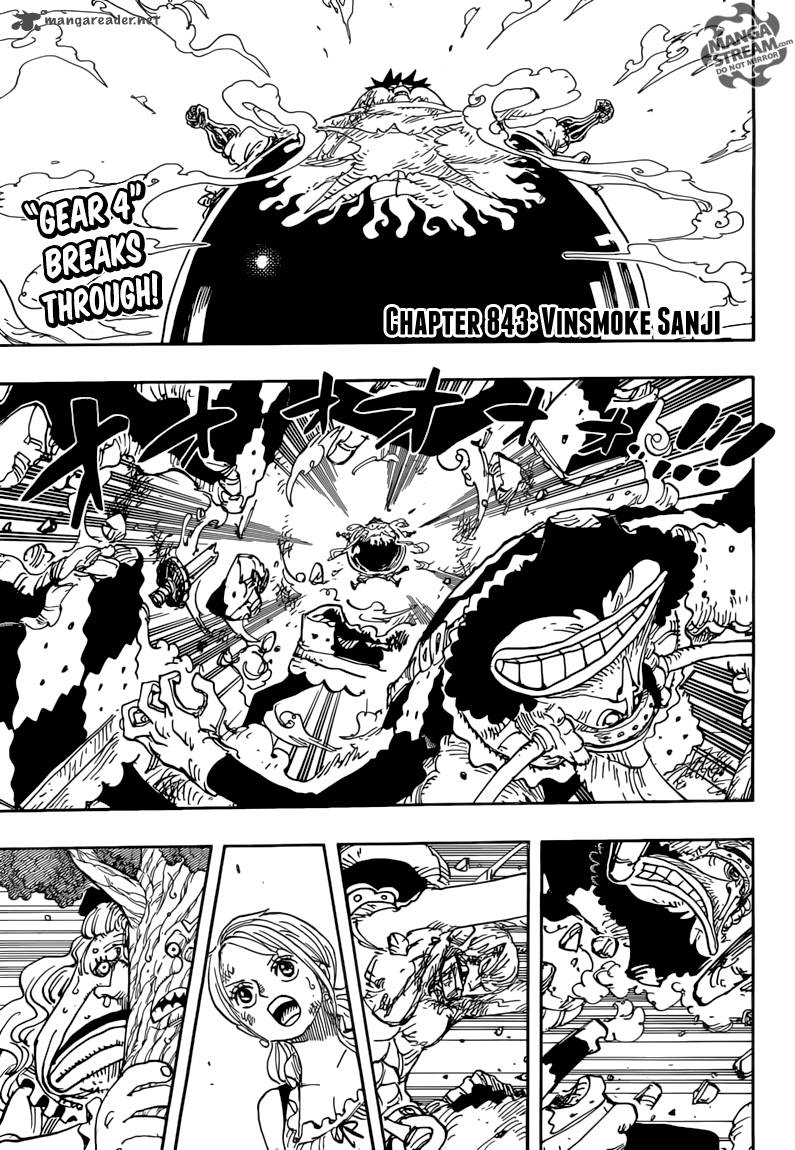 One Piece Chapter 843 Page 1