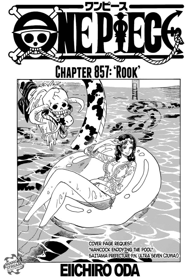 One Piece Chapter 857 Page 1