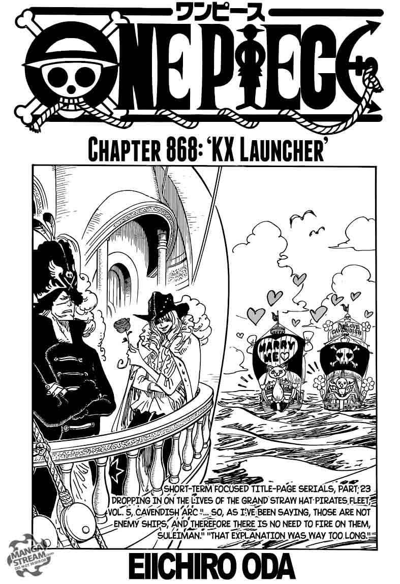 One Piece Chapter 868 Page 1