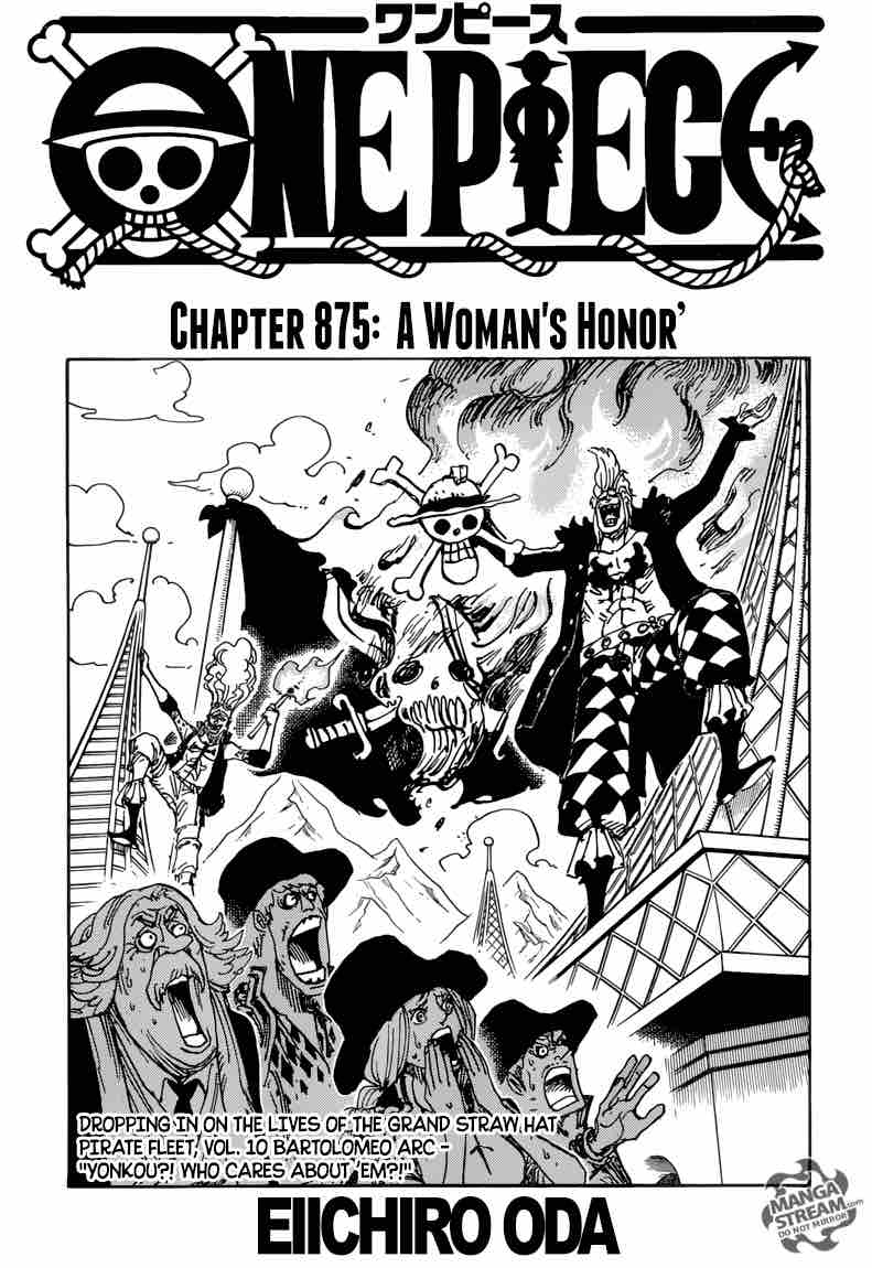 One Piece Chapter 875 Page 1
