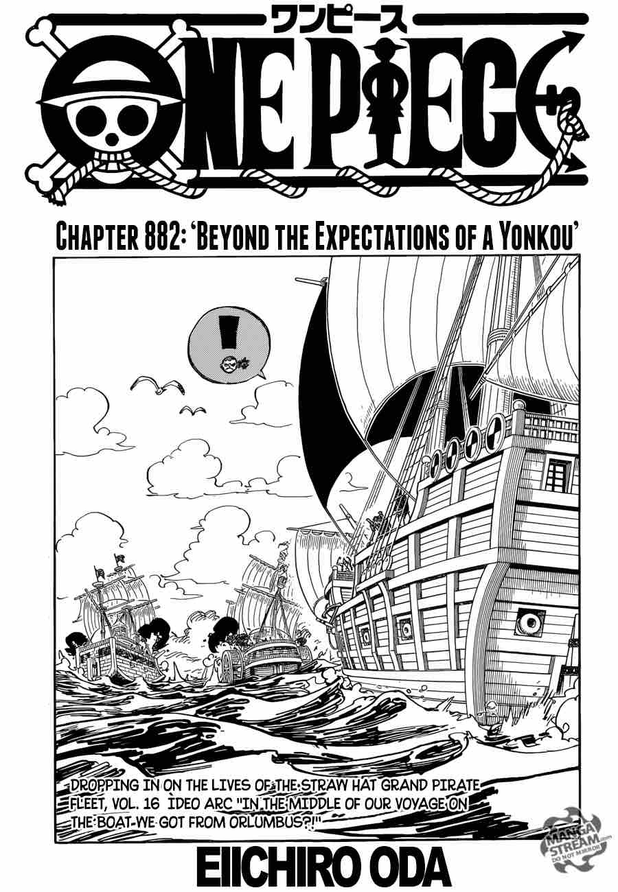 One Piece Chapter 882 Page 1