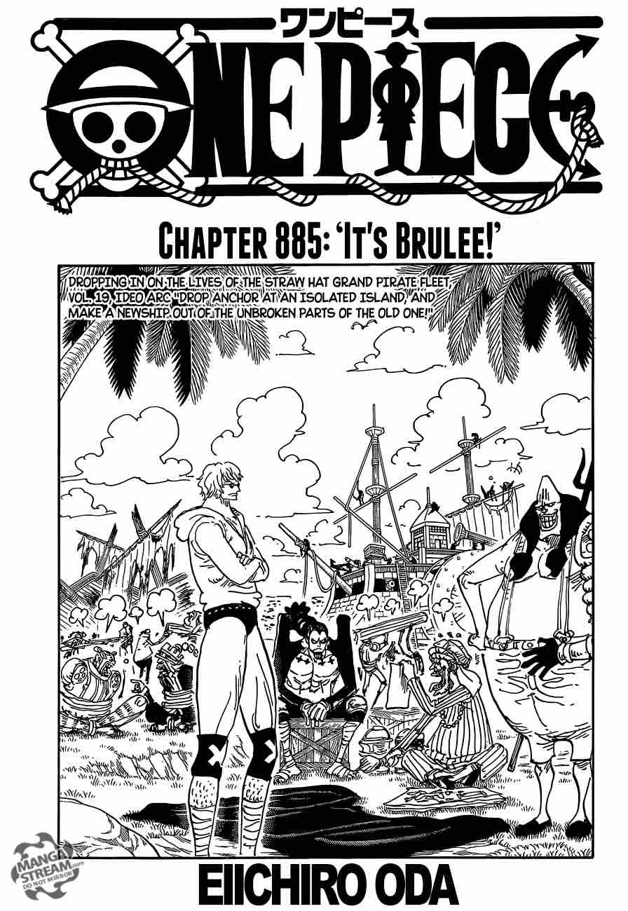 One Piece Chapter 885 Page 1