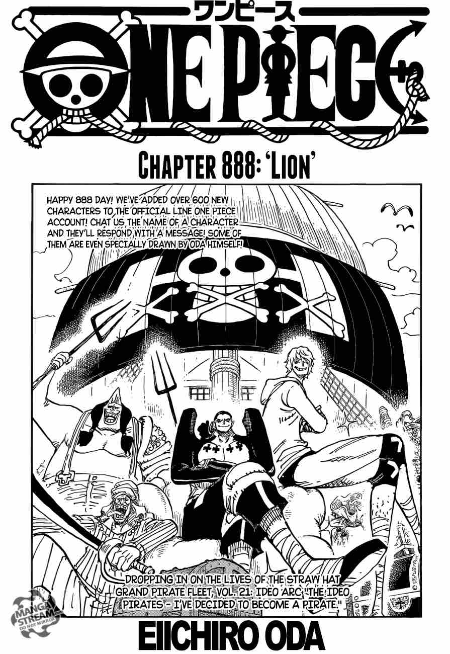 One Piece Chapter 888 Page 1