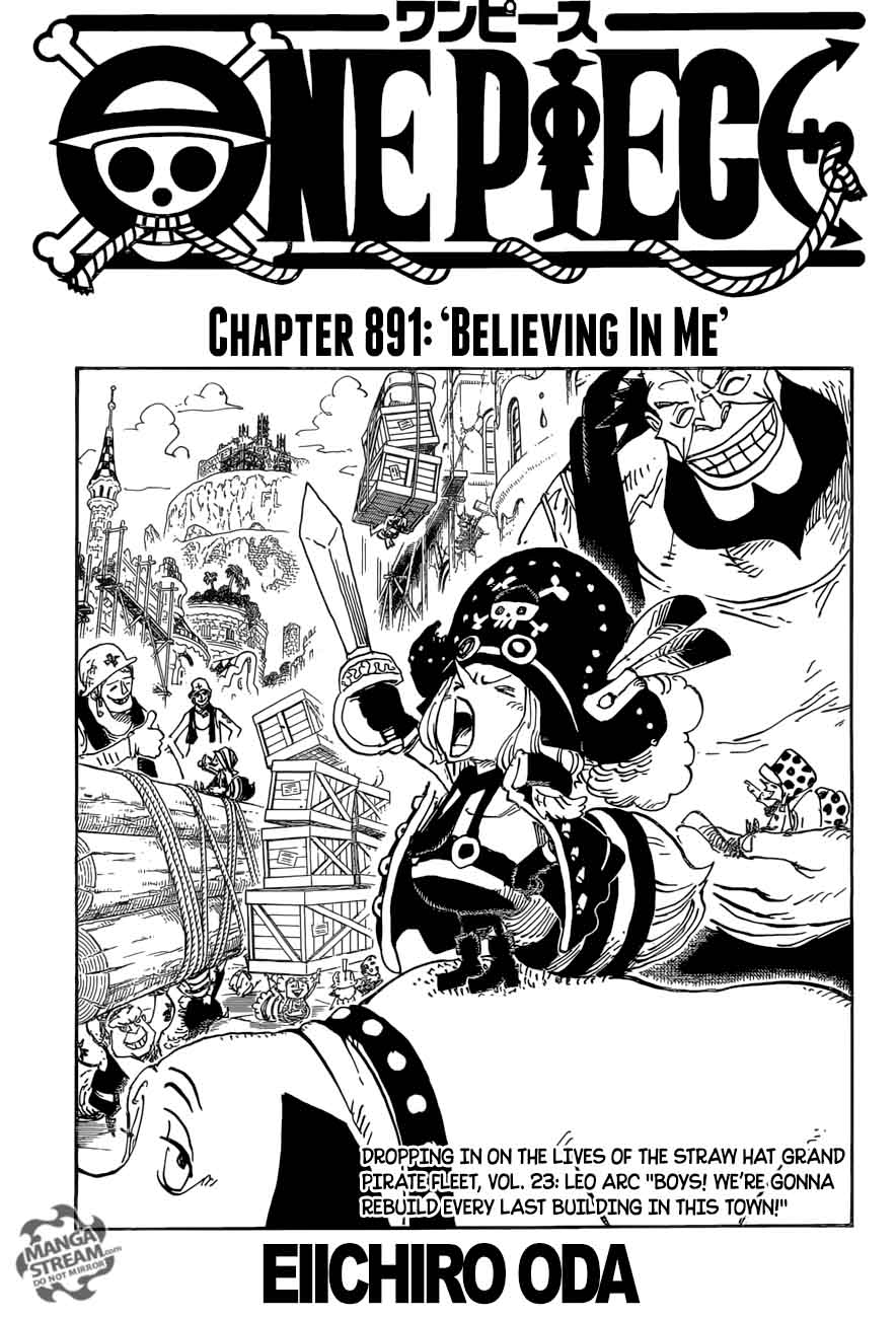 One Piece Chapter 891 Page 1