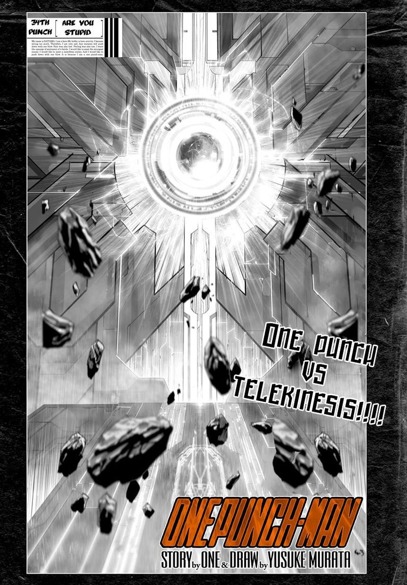 Onepunch Man Chapter 34 Page 1
