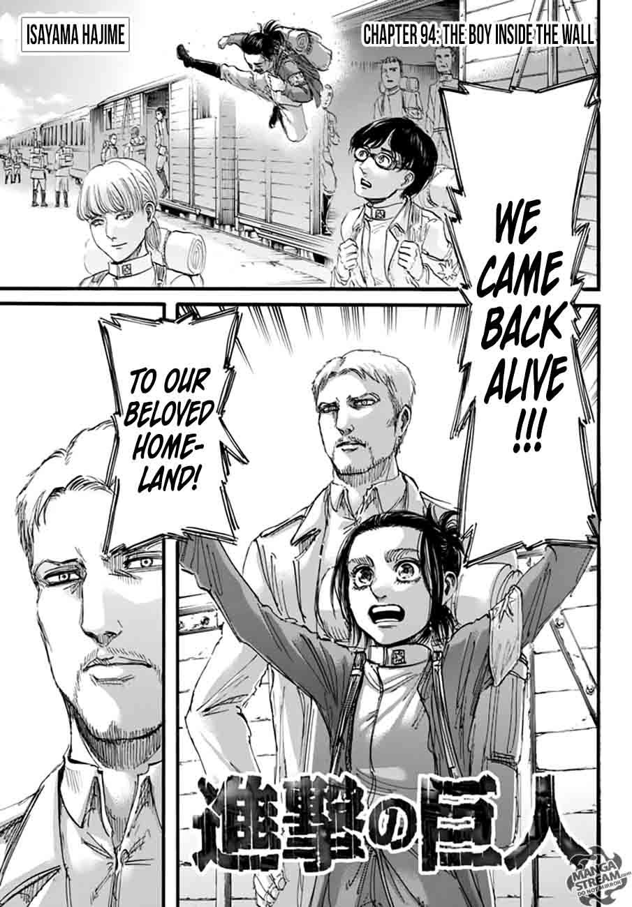 Shingeki No Kyojin Chapter 94 Page 1