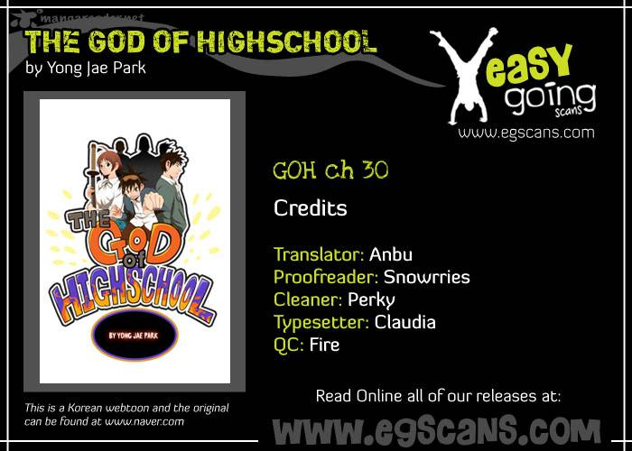 The God Of High School Chapter 30 Page 1