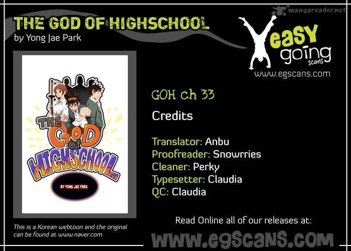 The God Of High School Chapter 33 Page 1