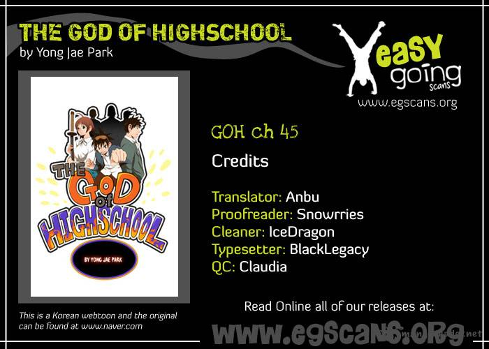 The God Of High School Chapter 45 Page 1