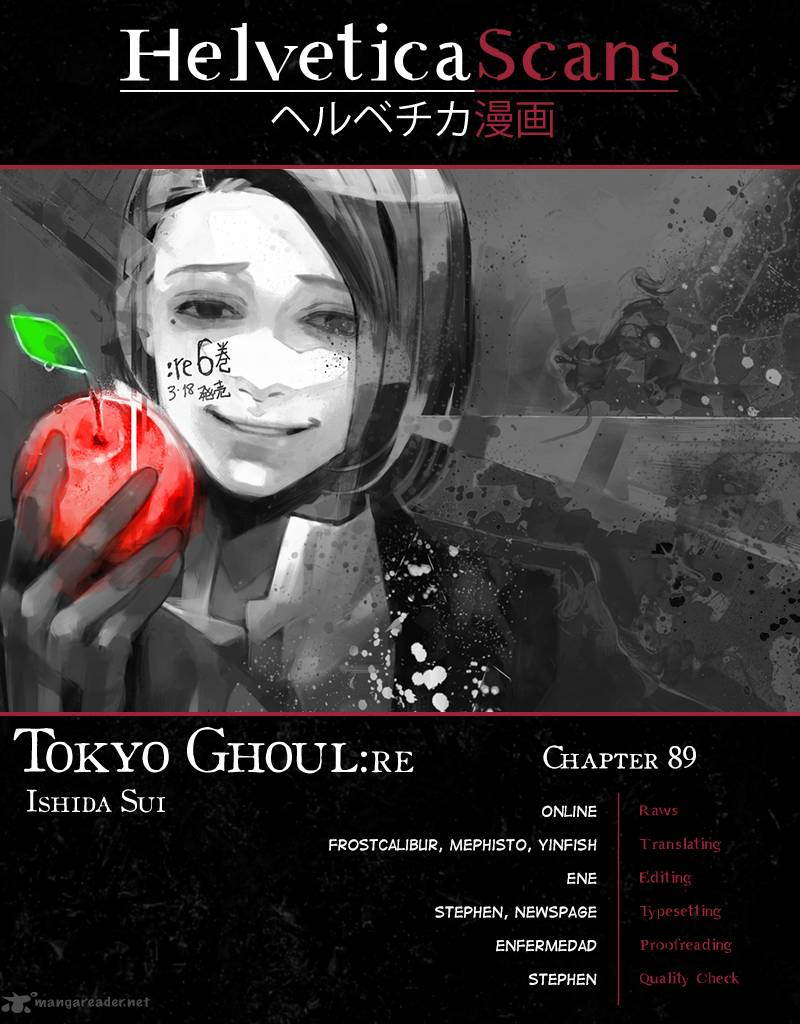 Tokyo Ghoulre Chapter 89 Page 1